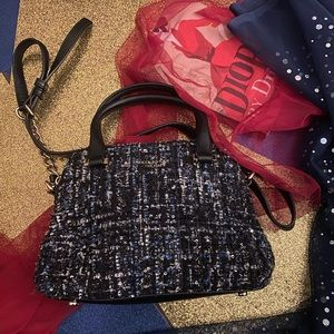 KATE SPADE TWEED SHIMMERY Crossbody Bag GORG RARE
